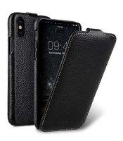 Черный кожаный чехол Melkco для iPhone X 10 - Melkco Leather Case Jacka Type Black