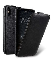 Черный кожаный чехол Melkco для iPhone X / Xs 10 - Melkco Leather Case Jacka Type Black