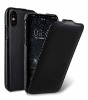Черный кожаный чехол для iPhone X 10 флип