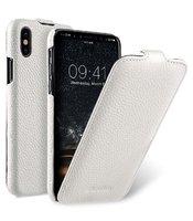 Белый кожаный чехол для iPhone X 10 флип - Melkco Leather Case Jacka Type White