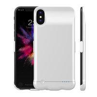 Белый чехол аккумулятор для iPhone X