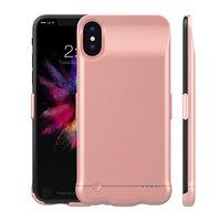 Чехол аккумулятор для iPhone X / Xs розовое золото