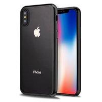 Прозрачный силиконовый чехол для iPhone X 10 с черным бампером