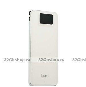 Аккумулятор внешний универсальный Hoco 10 000 mAh Power bank 2 USB White Белый