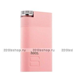 Аккумулятор внешний универсальный Hoco B30 - 8 000 mAh Color power bank Pink Розовый