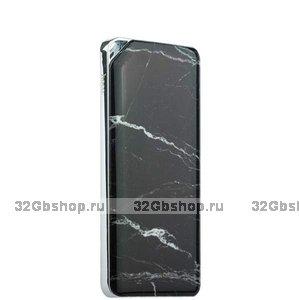 Аккумулятор внешний универсальный Hoco B28-10 000 mAh Stone and wooden series power bank 2 USB Black