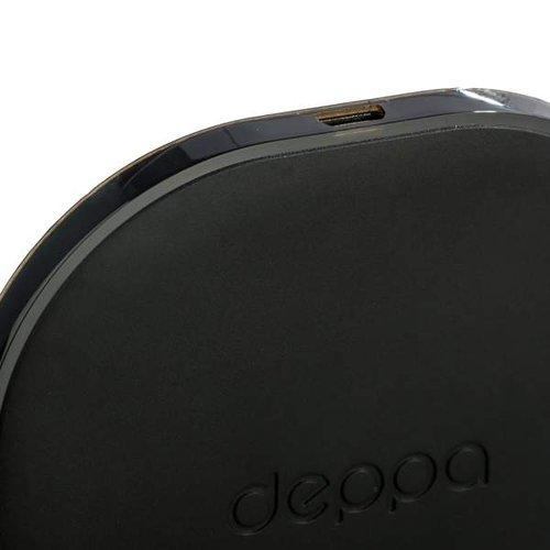 черная беспроводная зарядка для Iphone X Xs Deppa Qi Fast