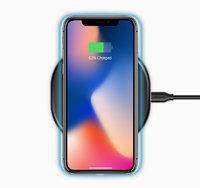 Черная беспроводная зарядка для iPhone X - Deppa Qi Fast Charger Black 10Вт 5V-9V-1A