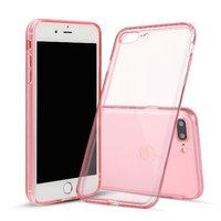 Розовый прозрачный силиконовый чехол для iPhone 8 Plus