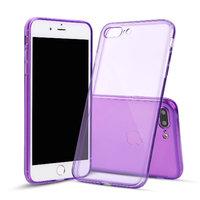 Фиолетовый прозрачный силиконовый чехол для iPhone 8 Plus