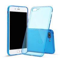 Синий прозрачный силиконовый чехол для iPhone 8 Plus