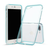 Голубой прозрачный силиконовый чехол для iPhone 8 Plus
