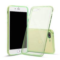 Зеленый прозрачный силиконовый чехол для iPhone 8 Plus
