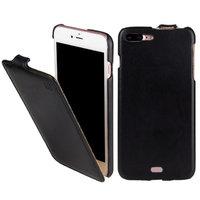 Черный кожаный чехол флип для iPhone 8 Plus