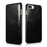 Черный кожаный чехол книга для iPhone 8 Plus