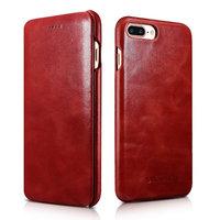 Красный кожаный чехол-книга для iPhone 8 Plus