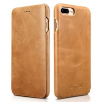 Бежевый кожаный чехол книжка для iPhone 8 Plus