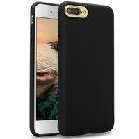 Черный матовый силиконовый чехол для iPhone 8 Plus