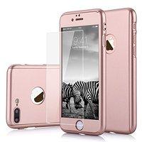Защитный пластиковый чехол на две стороны 360 для iPhone 8 Plus розовое золото
