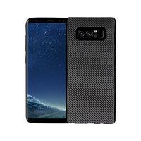 Черный силиконовый чехол - рисунок имитация карбона для Samsung Galaxy Note 8