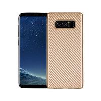 Золотистый силиконовый чехол - рисунок имитация карбона для Samsung Galaxy Note 8