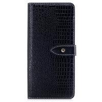Черный чехол книжка для Samsung Galaxy Note 8 - Croc Series с отделением для карт