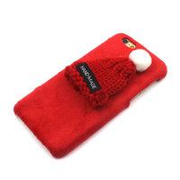 Плюшевый 3D чехол с вязаной шапочкой для iPhone 7 / 8 красный