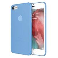 Голубой супертонкий пластиковый чехол для iPhone 8