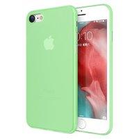 Зеленый пластиковый чехол для iPhone 8 тонкий 0.3мм