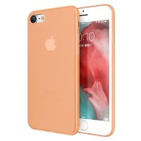 Оранжевый тонкий чехол для iPhone 8 пластик 0.3мм