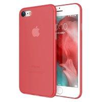 Красный супертонкий 0.3 мм пластиковый чехол для iPhone 8