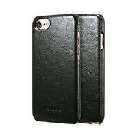 Черный кожаный чехол флип для iPhone 8
