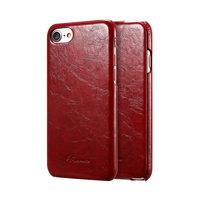 Красный кожаный чехол флип для iPhone 8