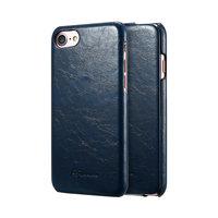 Синий кожаный чехол флип для iPhone 8