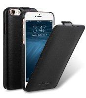 Черный кожаный чехол флип для iPhone 8 - Melkco Leather Case Jacka Type Black