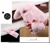 Плюшевый 3D чехол розовый Кролик для iPhone 7 / 8