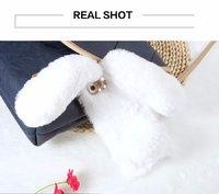 Плюшевый 3D чехол белый Кролик для iPhone 7 / 8