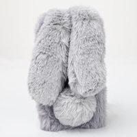 Плюшевый 3D чехол серый Кролик для iPhone 7 / 8