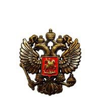 Герб РФ наклейка - металлический