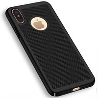 Пластиковый чехол для iPhone X 10 черный с перфорацией - Soft Touch Plastic Case Black
