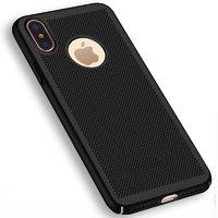 Пластиковый чехол для iPhone X / Xs 10 черный с перфорацией - Soft Touch Plastic Case Black