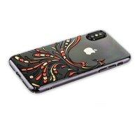Чехол со стразами Swarovski KINGXBAR для iPhone X / Xs 10 пластиковый черный ободок Жар-птица