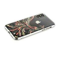 Пластиковый чехол KINGXBAR со стразами для iPhone X / Xs 10 серебристый ободок Жарптица