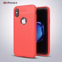 Красный силиконовый чехол для iPhone X / Xs 10 выступ над камерой