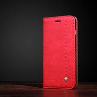 Красный чехол-книга подставка для iPhone X 10