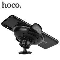 Черное автомобильное беспроводное зарядное устройство для iPhone X / Xs 10 держатель - Hoco Noble Rank Car Wireless Rapid Charger 5-9V/ 1.5A