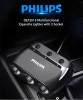 Автомобильное зарядное устройство Philips DLP2019 12 В 1A, разветвитель прикуривателя  на 3 выхода 12 V + 1 USB