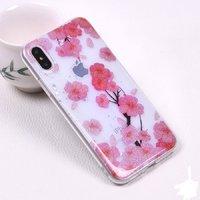 Cиликоновый чехол для iPhone X / Xs с рисунком цветы
