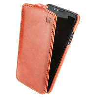 Коричневый кожаный чехол флип IMUCA для iPhone X 10 - IMUCA Flip Case Brown