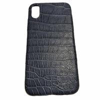 Синий чехол для iPhone X 10 из кожи крокодила